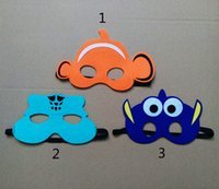 b party costumes - Finding Dory find dory mask cosplay toys design children Finding Nemo find dory cartoon mask Halloween Party Costumes for Kids B
