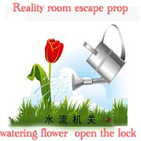 Wholesale Reality Room Escape props room game pour water props watering Water flow trigger open lock can be open mysterious room