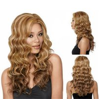 Wholesale Synthetic Women Curly Wavy Long Hair Full Wig