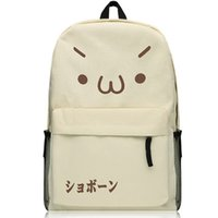 backpack chicken - Anime Emoticons Backpack Black Oxford Khaki Chicken nuggets jun Schoolbag Fashion Travel bag HOMRA Shoulders Bag No
