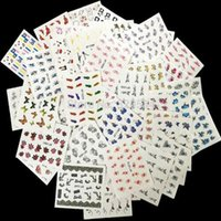 beauty watermarks - 50sheets Mixed Designs Water Transfer Nail Art Sticker Watermark Decals DIY Decoration For Beauty Nail Tools Random Patterns