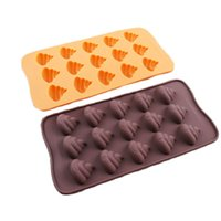 Wholesale Emoji Emotion Cake Mold Smiley Chocolate Candy Baking Mould Poop Face cavity per Sheet Random Color