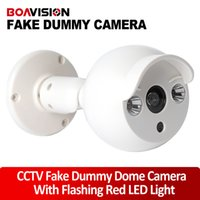 Wholesale Outdoor Indoor Bullet Dummy Camera Flash Ir LED Security Fake Camera Dome CCTV Surveillance With Flash LED