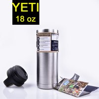 stainless steel double wall bottle - 304 Stainless Steel oz Yeti Rambler Cups oz YETI Rambler Tumbler bottle Vehicle Mug Double Wall Bilayer DHL OTH242