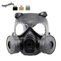 air filtration - Outdoor Equipment Airsoft Paintball Shooting Full Face Tactical Anti Fog Paintball Mask with Two Air Filtration Fan