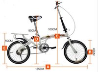 children bmx bicycle - The new inch inch mini folding bike shock absorber Child Adult male and female students BMX bicycle