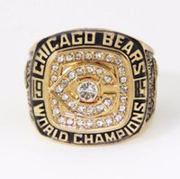 bears super bowl - 1985 American football Chicago Bear sale Super Bowl Replica Sports Men ring Replica championship ring
