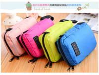 Wholesale 50Pcs Cosmetic Case Makeup Travel Toiletry Hanging Purse Holder Beauty Portable Wash Make up Bag Organizer With Hook
