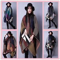 Wholesale Fashion Autumn and winter scarves grid scarves Ladies Travel Shawls wool thicken the cloak Printing scarf A0343