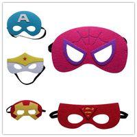 Wholesale Halloween Mask Superman Batman Ironman Spiderman Wonderwoman Captain Robin Mask holiday gifts