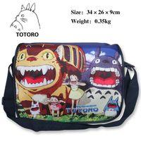 anime tote bags - Japanese anime My neighbour TOTORO Tote Cartoon Messenger Bag School Bag Shoulder Crossbody Girl Daypack Handbag