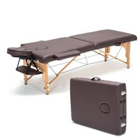 beauty salon beds - Professional Portable Spa Massage Tables Foldable with Carring Bag Salon Furniture Wooden Folding Bed Beauty Massage Table