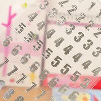 Nouveaux 10 feuilles Nombre Stickers Or / Argent Couleur 0 à 9 numéros Craft Scrapbooking Stickers Pour Jouets pour enfants fournitures scolaires