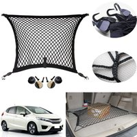Wholesale Universal CAR TRUNK CARGO NET Nylon Hatchback SUV Rear Organizer Storage Elastic Mesh Net Tidying Luggage Holder Plus Mounting with Hooks