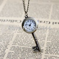 antique key box - Antique key hot sale fashion alloy pendant pocket watch gift pocket watch gift box watch