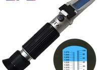 Wholesale Handheld Brix refractometer fruit sweetness meter cutting fluid concentration meter milk sugar refractometer Salinometer