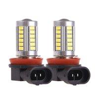 Wholesale 2Pcs Car H11 Led Fog Lights Headlight Bulbs White V W SMD5630 K DRL Driving Light Daytime Running Light
