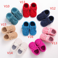 Wholesale BX92 leather baby moccasins tassels boot booties moccs infant kids leather shoes prewalker booties toddlers shoes