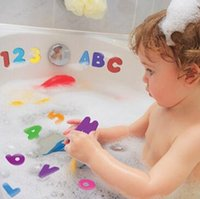 bath english - Playing In The Water Bath Alphanumeric Posted English Letters Numbers Child Bath Toy Baby Toys