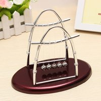 Wholesale Arc shaped Newton s Cradle Balance Ball Science Puzzle Fun Desk Toy