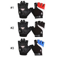 Wholesale 2016 New Arrival WOLFBIKE Outdoor Sports Non Slip Gel Pad Mountain Bike Bicycle Cycling Motorcycle Riding Half Finger Gloves Pair