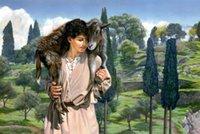 art lambs - Original US High tech HD Print Oil Painting Art On Canvas Les Lemon Swindle The Lamb of God x36inch Unframed