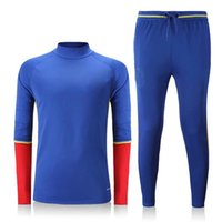 Wholesale 2016 New Sports Winter Autumn Spring Training Sweater Running Suit ES National Fans Blue tracksuit Windproof Adult Popular Kit