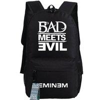 band backpacks - Eminem backpack Rap god school bag Music band daypack Hot schoolbag New game play day pack
