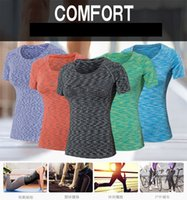 Wholesale PRO Colorful Gym Wear for Women Yoga Clothes Sport Hoodies Fitness Female Yoga Outfits Yoga Short Sleeve Outfits Quick Dry Yoga Clothing