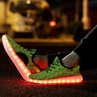 ladies dress fabric - Yeezys Ultra Boost Casual Led Shoes Light Up Loafers Sneakers Luxury Brand Ladies Designer Dress Walking Shoe High Platform Mesh Zapatos