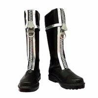 allen walker boots - New Season D Gray man Boots Allen Walker Shoes COSplay PU Leather Costume Accessories