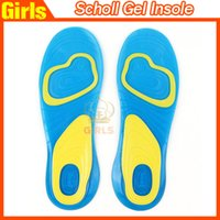 Wholesale Shoe Care Wholesalers - NEW Scholl Activ Gel Insoles Foot Care Male Gel Activ Female Gel Activ Gel Insoles For Shoes Heel Knees Ankles Drop shipping