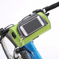 Wholesale Bike Bcycle Front Frame Tube Bags Waterproof Polyster Pannier Beam Package For Cellphone Iphone7 s Plus Samsung Galaxy Note5 NEW Style