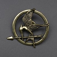 Wholesale 2016 Best Selling The Hunger Games Antique Bronze Plated Mockingjay Pin Brooch Brooches