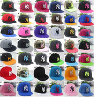 Wholesale colors Yankees Hip Hop MLB Snapback Baseball Caps NY Hats MLB Unisex Sports New York Women casquette Men Casual headware