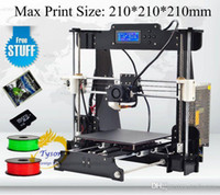 Cheap Top sell Desktop 3D Printer Prusa i5 Size 210*210*210 mm Acrylic Frame LCD 2Kg Filament & 16G TF Card for gift Fast ship Free
