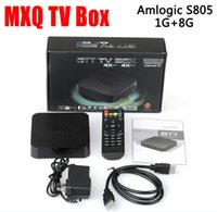 Wholesale 2016 MXQ Android TV Box Quad Core Amlogic S805 Pre installed XBMC Android Kodi Android Smart OTT TV Set Top Box DHL