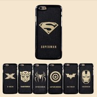 apples iron - iphone5 S i6plus Star Wars Superman Spide Iron man Darth Vader R2D2 C3P0 Captain US PC Hard Black Cases Cover for iphone6S plus