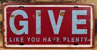 bars giving - 15x30cm Tin Sign Coffee Shop Bar Club GIVE Vintage Tin Signs Wall Art Decoration Metal Painting Tin Sign