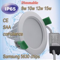 approved resistance - watertight light w w w w water resistance IP65 dimmable led round downlight Samsung SAA CE approved