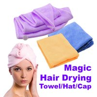 Wholesale Magic Quick Dry Hair Towel Hair drying Ponytail Holder Cap Towel Lady Microfiber Hair Towel