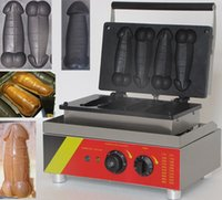 Wholesale good stainless steel electronic waffle maker Taiwan carved burming a piece of gayke