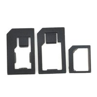 Wholesale 3 in Nano Micro Standard SIM Card Adaptor Adapter Tools For Iphone S Black XDA1174