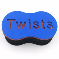 Wholesale Hot sale US Top Blue EVA hair curl sponge brush magic Hair Twist Sponge for Black man hair Styling Tools