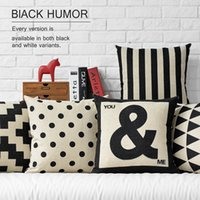 best car fabric - 45cm Black Nordic Best Day Ever Cotton Linen Fabric Waist Pillow inch Hot Sale New Home Decorative Sofa Car Back Cushion
