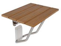 bath brackets - New Folding Bath Shower Bench Seat Stainless Steel Bracket Wall Mount Solid Wood