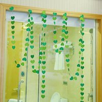 Wholesale Love Heart Shape Garland Decoration Party Hanging for Christmas Wedding Birthday Party Flags