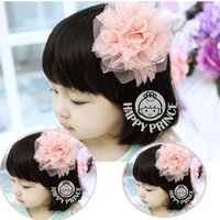 Wholesale Children s Fashion hair accessories lace big flower hair clasp