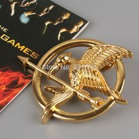 Wholesale Retail Movie The Hunger Games Logo Metal Brooch Badge ANPD1422