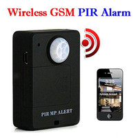Wholesale Wireless PIR Sensor Motion Detector GSM Alarm System Alert Monitor Remote Control